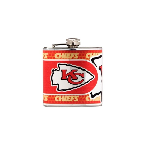Great American Products Kansas City Chiefs Flask Stainless Steel 6 oz. Flask