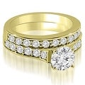 2.25 cttw. 14K Yellow Gold Cathedral Round Cut Diamond Bridal Set - Thumbnail 0