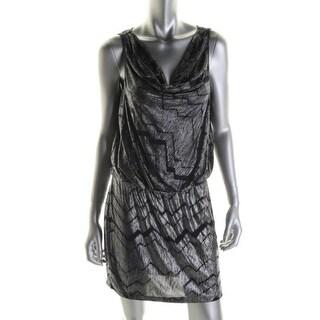 BCX Womens Juniors Cocktail Dress Metallic Sleeveless - XL