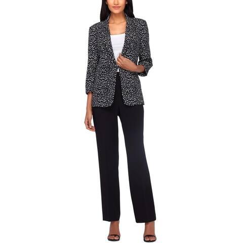 Tahari ASL Womens Pant Suit Printed Business