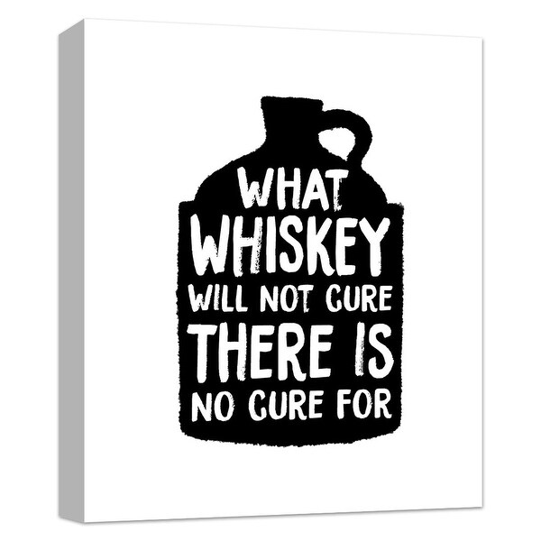 "PTM Images 9-124834 PTM Canvas Collection 10"" x 8"" - ""What Whiskey Cannot Cure, There is No Cure For"" Giclee Liquor & Cocktails"