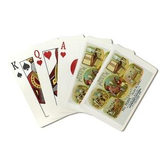 Royal Punch Brand Cigar Box - Vintage Label (Poker Playing Cards Deck)