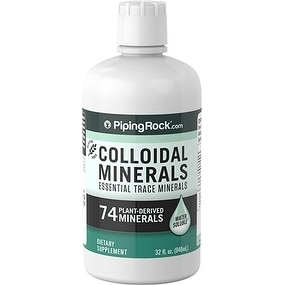 Piping Rock Colloidal Minerals 74 Plant-Derived Minerals Water Soluble 32 oz. Dietary Supplement