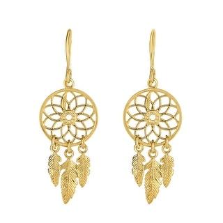 Mcs Jewelry Inc 14 KARAT YELLOW GOLD FANCY FILGREE ROUND EARRINGS