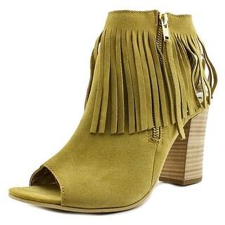 Diba True In Tern Women  Peep-Toe Leather Tan Slingback Heel