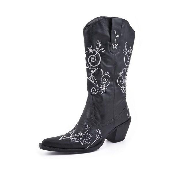 Roper Western Boots Womens Stud Scroll Black