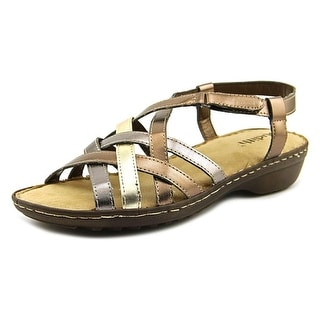 Judith Tyra Women  Round Toe Synthetic Gold Slingback Sandal