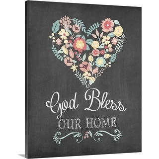 """God Bless"" Canvas Wall Art"