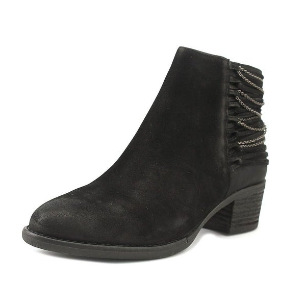 Steve Madden Chily Women Round Toe Leather Black Bootie