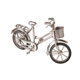 Miniature Silver Metal Bicycle Model
