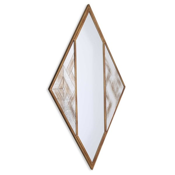 Selles Metal Framed Mirror - Antique White/Antique Brown/Bronze - A/N. Opens flyout.