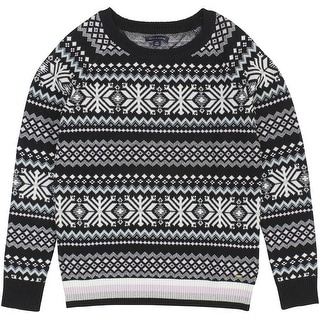 Tommy Hilfiger Printed Long Sleeve Pullover Sweater - S