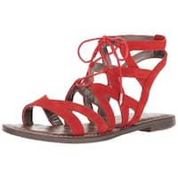 Sam Edelman Womens Gemma Suede Open Toe Casual Strappy Sandals