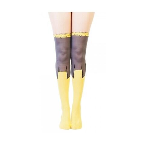 DC Comics Batgirl Women's Sheer Costume Tights - Yellow