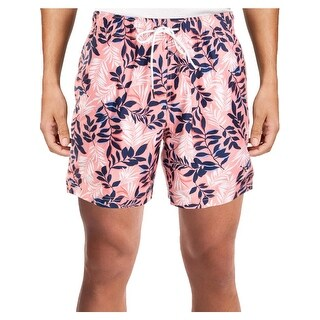 Nautica Mens Floral Print Quick Dry Swim Trunks - S