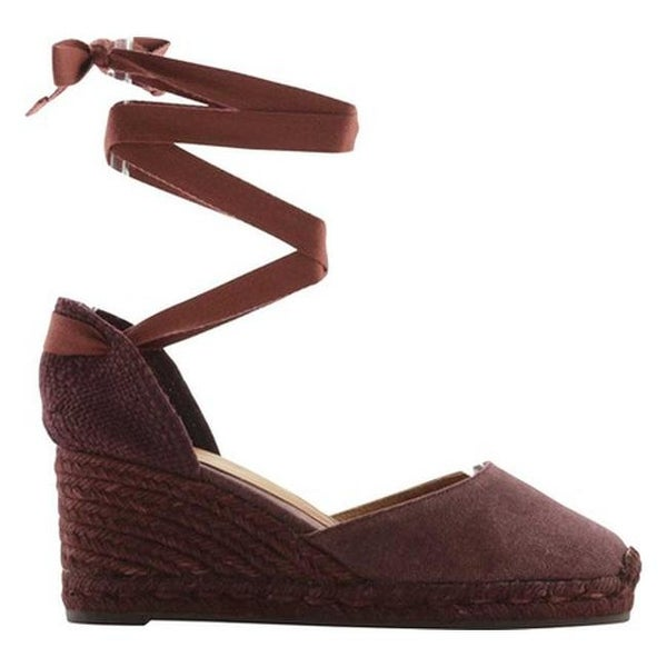 02270cbbd64cd Castaner Women's Carina Lace-Up Wedge Espadrille Vino Winter Canvas