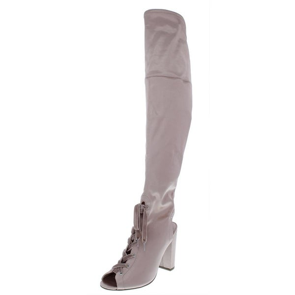 The-Knee Boots Padded Insole Open Toe