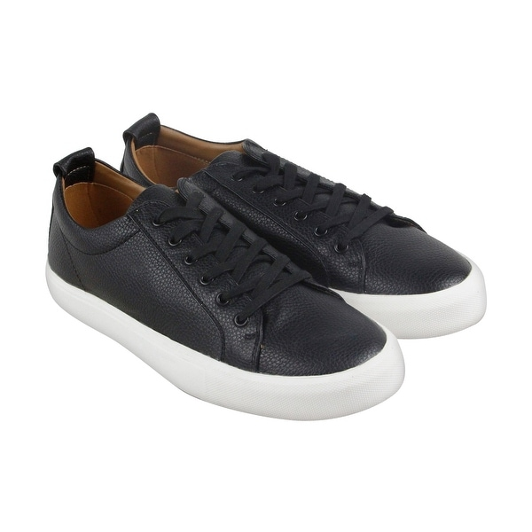 Shop Steve Madden M-Ingle Mens Black Leather Lace Up Sneakers Shoes
