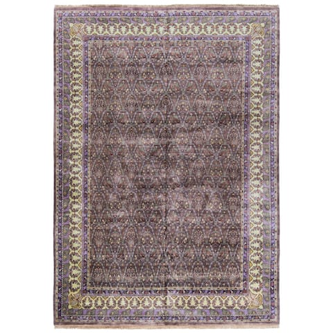 SAFAVIEH Couture Hand-knotted Ganges River Danyelle Traditional Oriental Wool Rug with Fringe
