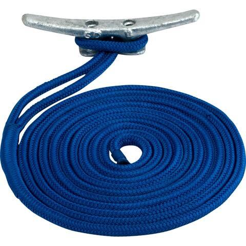 Sea-dog line sea dog double braided nylon dock line 3/8 x 25' blue 302110025bl-1