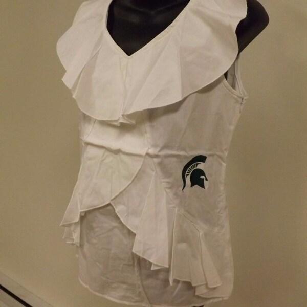 32b79a8a Shop Michigan State Spartans Womens M-L Sleeveless Shirt Meesh & Mia ...