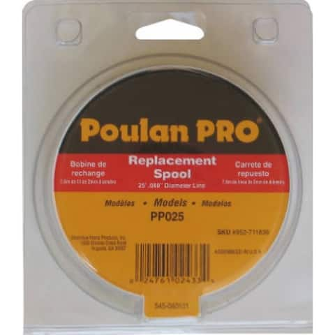 """Poulan Pro 711636 Replacement Spool For 17"""" Gas String Trimmer"""