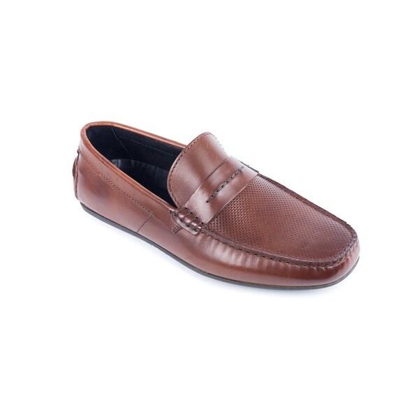 ccf949f1c7e Shop Hugo Boss Men s Dandy Medium Brown Moccasins Shoes - Free ...
