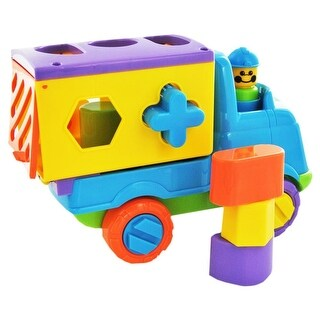 Fun Time Push Along Shape Sorting Tipper Truck Assorted Colors