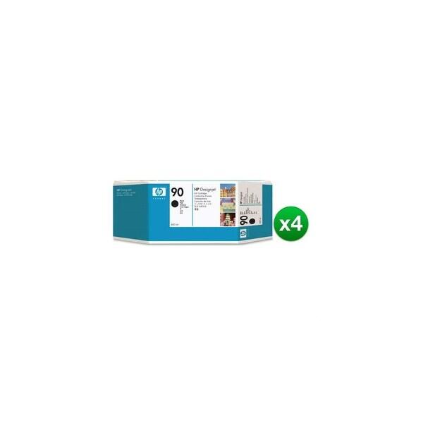 HP 90 400-ml Black DesignJet Ink Cartridge (C5058A) (4-Pack)