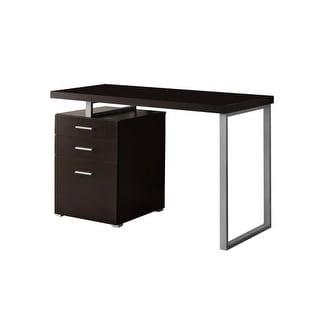 Monarch Specialties Corner computer desk set I 3 Piece Hollow-Core Desk Set with Storage Drawers