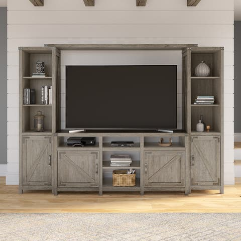 Cottage Grove 65W Farmhouse TV Stand with Shelves by Bush Furniture