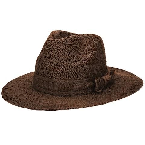 Womens Foldable Summer Beach Sun Sweatband Comfort Fedora Straw Hat