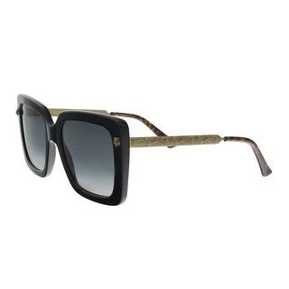 GUCCI GG0216S 001 Black Oversized Square Sunglasses