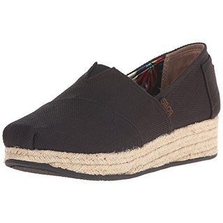 Skechers Womens Flats Canvas Wedge