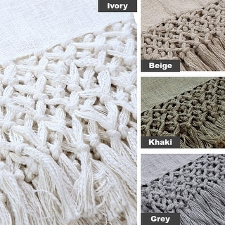 Link to AANNY Designs Braden Cotton Throw Blanket Similar Items in Blankets & Throws