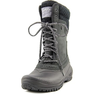 The North Face Shellista II Mid Women  Round Toe Suede Black Snow Boot