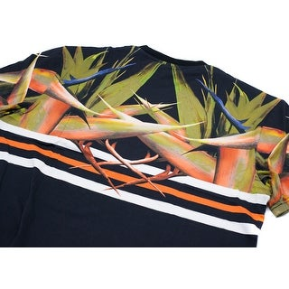 Givenchy Men Black Tropical Printed Graphic T-Shirt