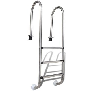 vidaXL Pool Ladder 3 Steps Stainless Steel 47.2""