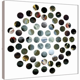 "PTM Images 9-101126  PTM Canvas Collection 12"" x 12"" - ""Circle Grid N"" Giclee Abstract Art Print on Canvas"