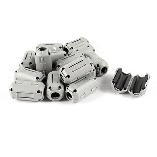 Unique Bargains 15 Pcs Gray 9mm Dia Cable Ferrite Core Noise Suppressor Filter
