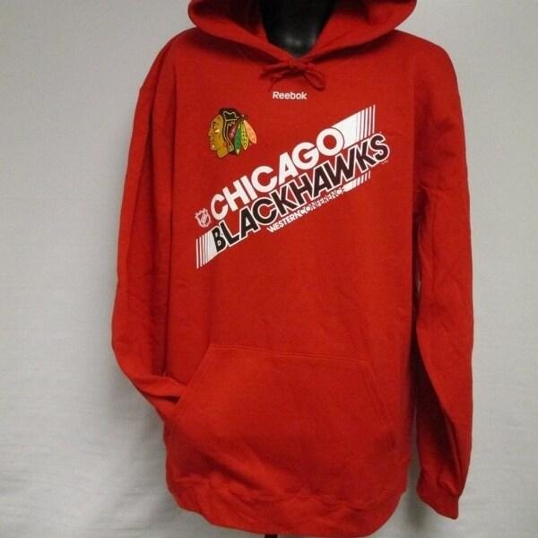 3f110faf429 Shop Chicago Blackhawks Nhl Mens Sizes S-M-2Xl Reebok Red Hoodie ...