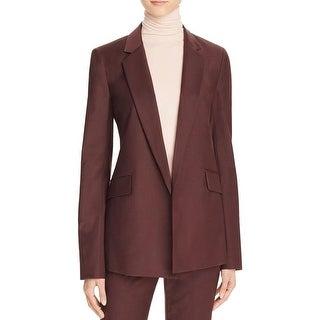 Theory Womens Blazer Woven Long Sleeves