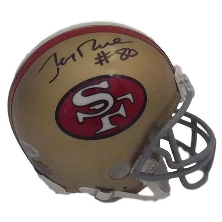a6bc9a12a30 Shop Jerry Rice Autographed San Francisco 49ers Mini Helmet BAS - Free  Shipping Today - Overstock - 18507852