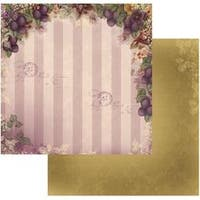 """Orchard Delight - Hearts Ease Double-Sided Paper 12""""X12"""" (5/Pack)"""