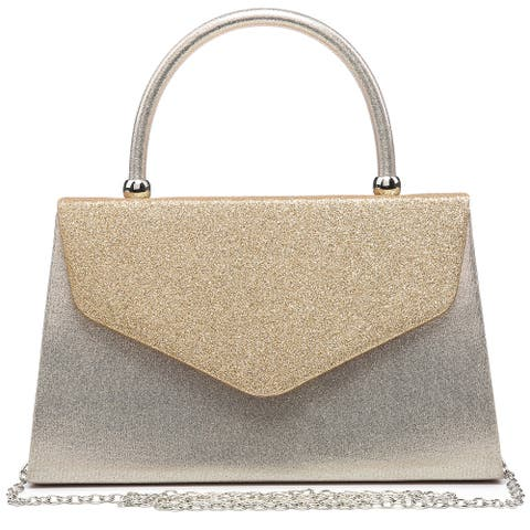 Dasein Glitter Frosted Clutch Evening Bags for Women