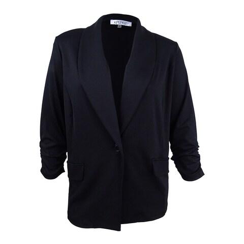 Kasper Women's Plus Size Shawl-Collar Blazer - Black