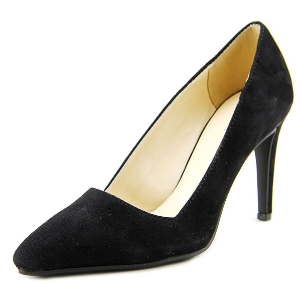Bar III Joella Women Pointed Toe Leather Black Heels