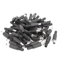 50 Pcs 5.5mm x 2.1mm Male Soldered Type DC Power Plug Connector Adapter