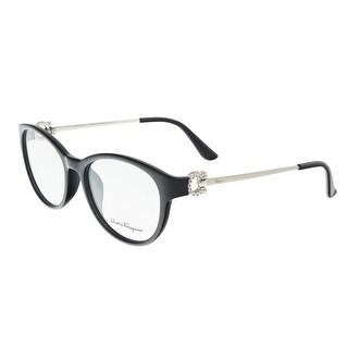 Salvatore Ferragamo SF2704R 001 Black Oval Journal Optical Frames