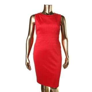Calvin Klein Womens Pintuck Sleeveless Cocktail Dress - 16